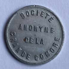 Comoros - 50 Centimes ND (1915) - Aluminium