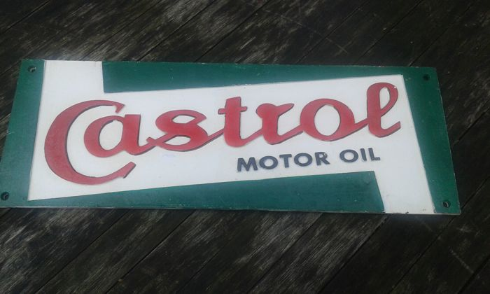 Lot of Castrol and Shell old advertising signs - period 1960-1970