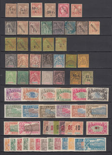 Reunion 1885/1958 - Collection including stamps of 'France Libre'