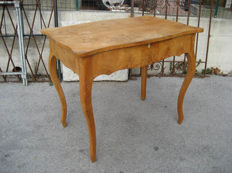 Birch burl table - early 20th century