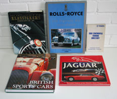 Collection of car books concerning English brands (Jaguar, Rolls Royce)