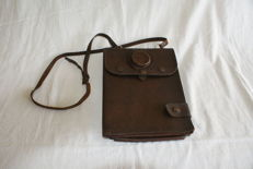 Old leather maps / document map officer LWP - Poland