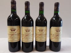 1x 2000  & 3x 1998 Chateau Bel Air Marquis d'Aligre, Margaux - 4 bottles in total