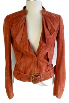 Gucci – leather jacket – belt – Made in Italy