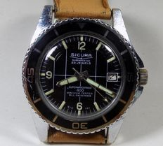 Sicura Submarine 400 - Super waterproof - 400 Meters Diver - 1970's - Men's Wristwatch