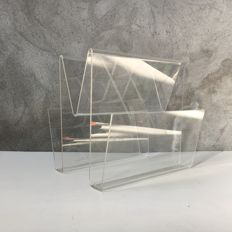 Unknown manufacturer - vintage plexiglass magazine rack