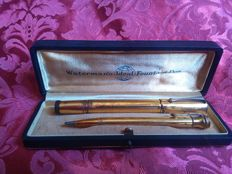Parure with Wateman's ideal pen and pencil 1908