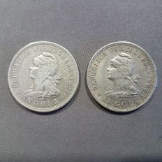 Angola - 50 cents 1927 and 1928 (2 coins)