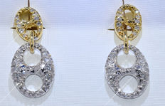 Designer Diamond earrings - NO reserve price!