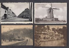 Belgium-1900/1930 very nice composition of 123 villages and towns
