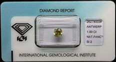 1.00 ct IGI Natural Fancy Brownish Yellow Diamond – NO RESERVE