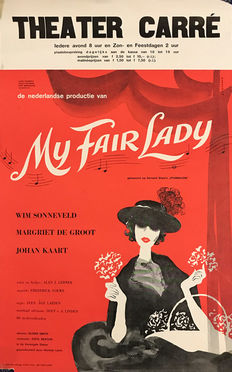 Ad Werner - My Fair Lady (Wim Sonneveld)  + program booklet - 1962