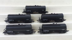 "Piko H0 - 54381 - Five tank cars ""NAM"" of the NS"
