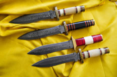 Damast steel art hunting bowie knife collectors items.
