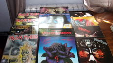 Lot Of 15 Lp Vinyls Kiss  Thin Lizzy Iron Maiden And Judas Priest