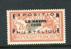 France 1929 - Le Havre Philatelic Exhibition - Very good centring - Yvert no 257A.