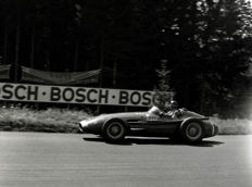 1957 German Grand prix Fangio in a Maserati Winner  Photograph 54cm x44cm