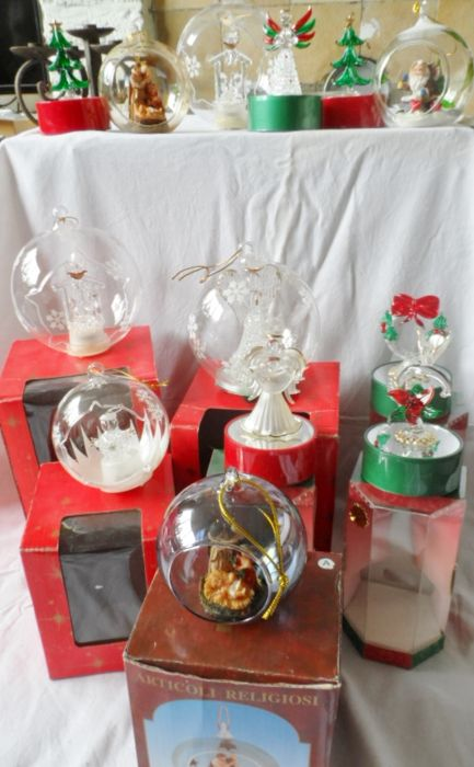 Collection glass Christmas decorations