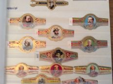 Extensive collection of cigar bands in 3 sets and 1 case
