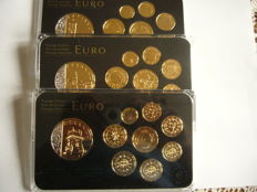 "Europe - 3x Coin set ""gold plated and rhodium"" (portugal, slovenie, chypre)"