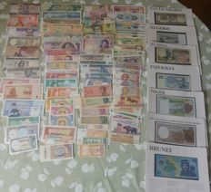 World - 100 different world banknotes