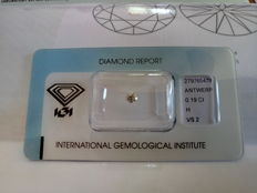 Natural diamond – 0.19 ct – H / VS2