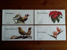 Spain 2006 – flora e fauna 4 booklets Limited series, self-adhesive stamps.