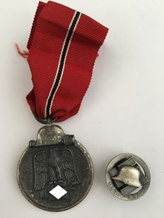 Winter Battle in the East Medal 1941/42 and Member Badge of the N.S.D.F.B.St.