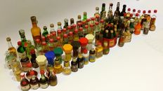 Miniature bottles - Lot of 103 mini bottles.
