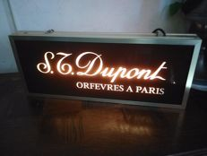 Rare neon sign ST DUPONT - PARIS - 1970