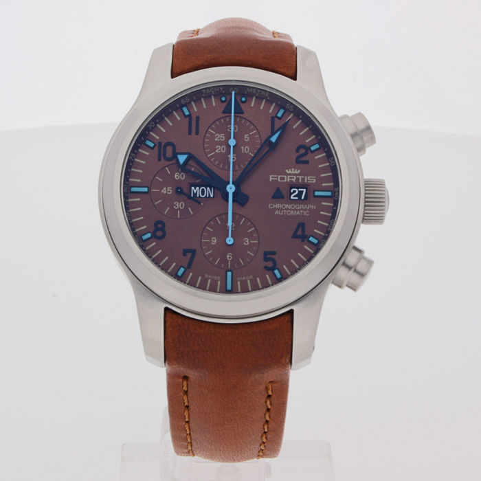 Fortis - B-42 Blue Horizon Chronograph Limited Edition - 656.10.95 L.38 - men's - 2011-today
