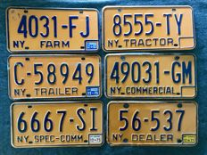 NEW YORK State - 6 TRANSPORTATION license plates