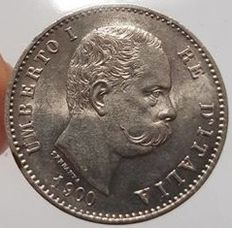Kingdom of Italy - 1 Lira 1900 Umberto I - silver