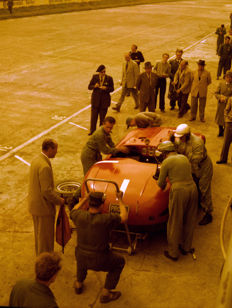 1953 Monza  Ferrari 250mm  Pits Colour  Photograph 54cm x44cm