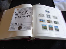 Europa Stamps 1953/1983 - Collection of followers, i.a. Norden, Benelux, NATO in preprint album