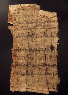 Egyptian papyrus fragment with script - 141mm x 79mm