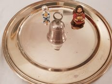 Christmas Bell in silver. Year: 1997
