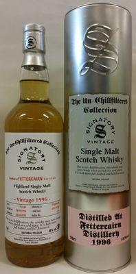 Fettercairn 1996 19 years old - bottled in 2015 - (Bottle No. 179) - The Un-Chillfiltered Collection by Signatory Vintage