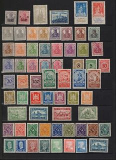 German Empire - 1925/1940 - collection on album pages, complete series and sheetlet