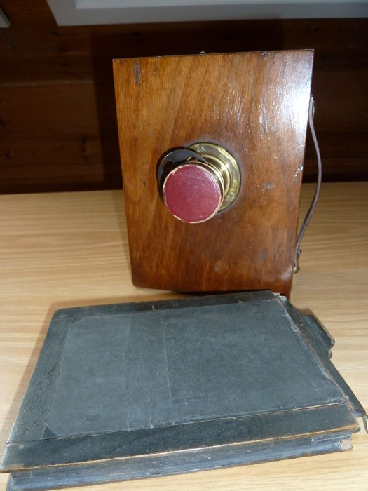 Rare old 9 x 12 wooden plate camera with Rodenstock lens