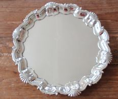 Heavy antique silver late Victorian English serving tray/dish - Goldsmiths & Silversmiths Company Ltd - London - 1904
