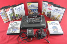 Sega Master System II console with 9 games eg R-Type, Sonic and more