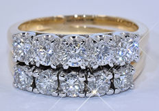 1.41 Ct Diamond double ring - NO reserve price!