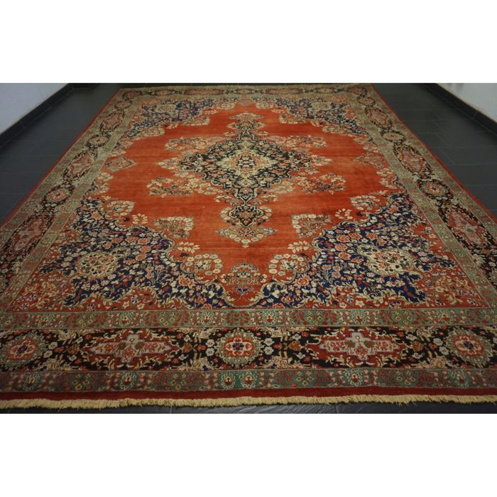 Old Exclusive Hand-knotted Persian Palace Carpet, Old