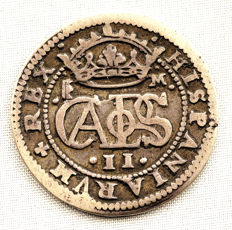Spain - Carlos II (the bewitched) - 2 Silver Reales - 1682 - Segovia