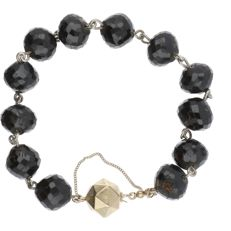 14 kt - Garnet bracelet with an elegant yellow gold box clasp with a safety chain - Length: approx. 21.4 cm