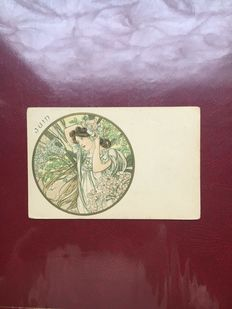 Alphonse Mucha the months 6 cards