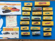 Atlas-Dinky Toys - Scale 1/43 - Lot with 20 models and certificate & informative brochures, folder & poster