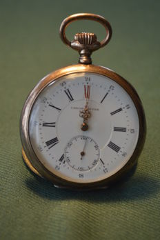 IAXA - Chronometre IAXA Haute Precision. Silver pocket - pocket watch circa 1905 - Heren - 1901-1949