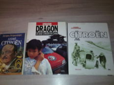 Citroen - lot of 3 books and one display - c.1990